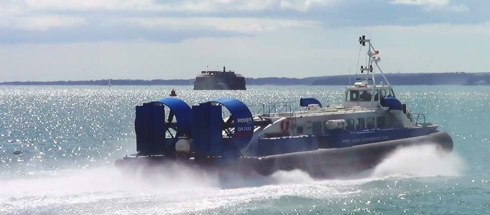 Hover craft to Isle of Wight is only 10 minute ride.